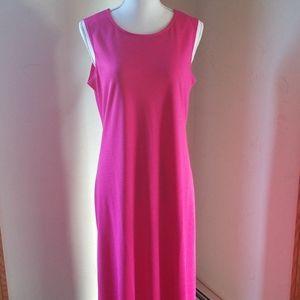 Susan Graver Pink Sleeveless Maxi Dress